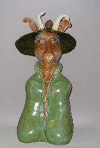 Forest Spirit anthropomorphic mythical creature wearing hat