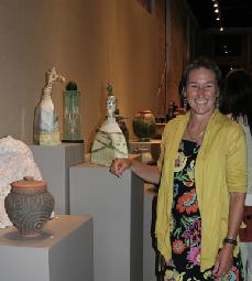 Ceramic sculptures at Funeria Gallery - Ashes to Art